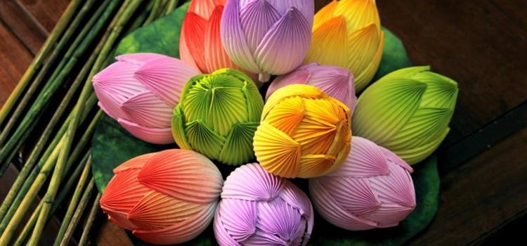 Bán hoa sen giấy Thanh Tiên Huế